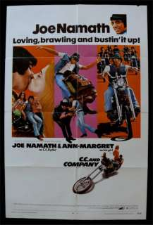 CC & COMPANY * 1SH ORIG MOVIE POSTER BIKER JOE NAMATH
