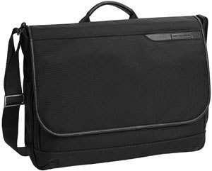 Johnston & Murphy Black Nylon Messenger Bag 46 15551