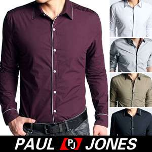 PAUL JONES NWT Men's Casual Slim Stylish Dress Shirts Fit blouse US
