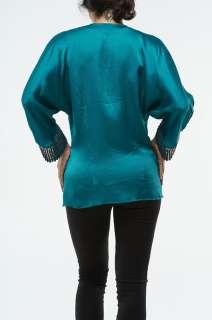 Roberto Cavalli Womens Top Blouse Shirt Green NWT Ladies 070