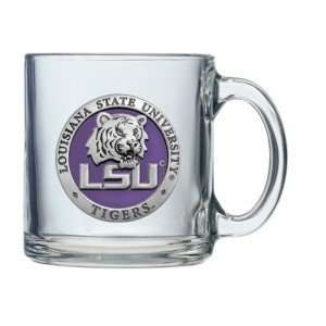 LSU Tigers Logo Clear Coffee Mug Sports & Outdoors