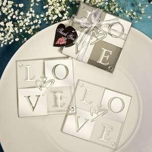 Love Shines Through glass coaster set