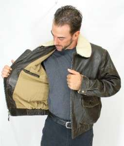 HANDSOME Mens Vintage G 1 Brown LAMBSKIN LEATHER flight Bomber JACKET