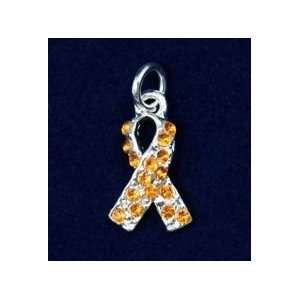 Orange Ribbon Orange Crystal Charm (50 Charms): Everything