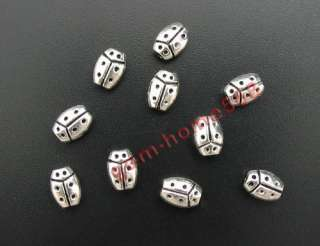 160 Tibetan Silver Ladybug Beads Spacers Findings B598