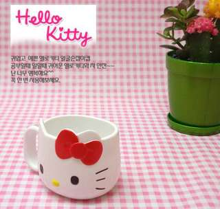 Sanrio Genuine Hello Kitty Face Ribbon Mug Cup Red