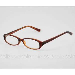 Eye Candy Eyewear   Rhinestone Reading Glasses with Light Brown Frame
