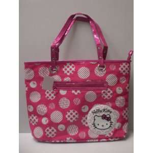 Hello Kitty Shoulder Tote Bag Hot Pink Polka Dots Toys