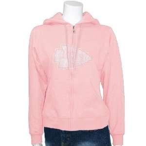 Kansas City Chiefs Ladies Pink Tickets Full Zip Hoody