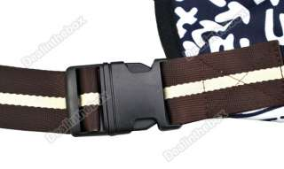 Dark Blue white Strip Oxford Cloth Sling Pet Dog Cat Shoulder Carrier