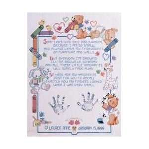 Fingerprints Baby Sampler, Cross Stitch from Janlynn Arts