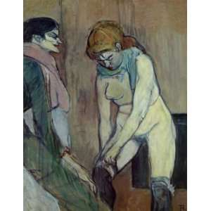 Pulling up Her Stockings Henri De Toulouse Lautre