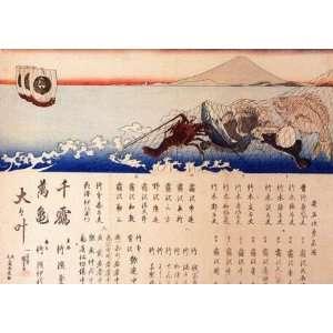 Keyring Japanese Art Utagawa Kuniyoshi Mount Fuji