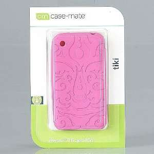 IPHONE 3G AND 3GS CASE MATE PINK TIKI CASE Cell Phones