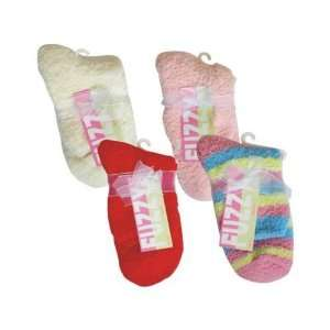 Fuzzy Sock Solid & Stripes Assorted Colors Case Pack 12