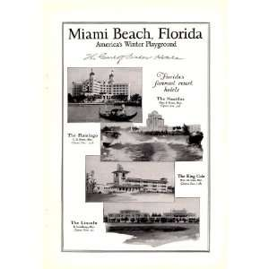 1926 Ad Miami Beach Florida Vintage Travel Print Ad
