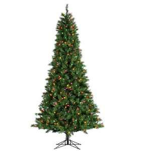 Retro Pine Artificial Christmas Tree   Multi C7 Lights