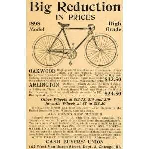 1898 Ad Antique Oakwood Arlington Bicycles Bike Pricing