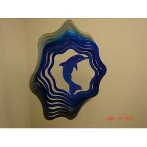 Dolphin Wind Spinner 11 Blue/silver: Patio, Lawn & Garden