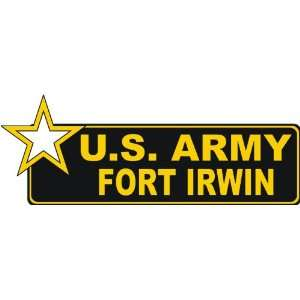 United States Army Fort Irwin Bumper Sticker Decal 9