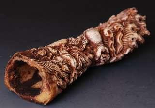 NICE Real yak Bone MAHAKALA Tibet Buddhist Hand Carved
