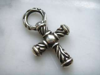 GOTHIC CROSS DOUBLE SIDED 925 STERLING SILVER PENDANT CHARM