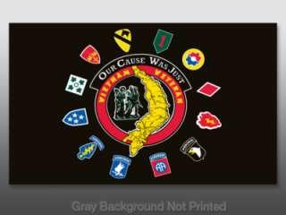 Vietnam Flag Sticker   decal bumper our cause veteran