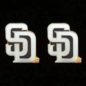 MLB San Diego Padres Team Logo Post Earrings Sports