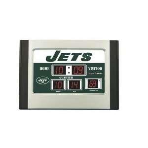 Scoreboard Desk Clock  New York Jets   NFL Football Fan