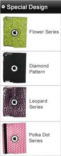 The New iPad 3 360 Rotating Leather Case Magnetic Smart Cover Stand