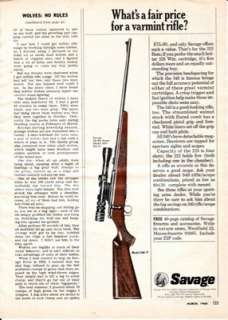 Savage Model 340 V Varmint Rifle with Scope 1968 Ad