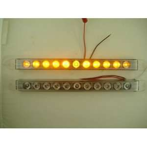 (2) 17 Amber LED Truck Trailer Marker Park Turn Signal