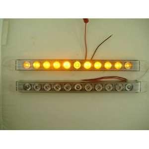 (2) 17 Amber LED Truck Trailer Marker Park Turn Signal