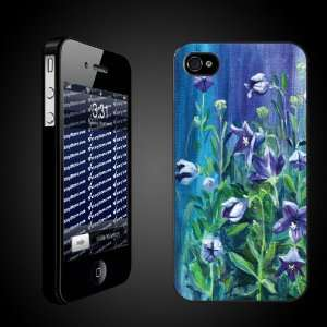 iPhone Case Designs Watercolor of Purple Flowers