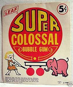 Super Bubble Gum 5 Cent Gumball Vending Machine Card