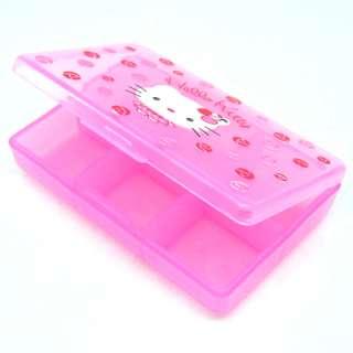 Hello Kitty Medicine Pill Tablet Box Case Holder