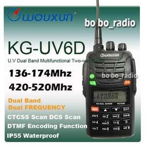 Wouxun KG UV6D 136 174 / 420 520 MHz Dual Band Radio Free Earpiece New