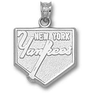 Sterling Silver New York Yankees Home Plate Pendant