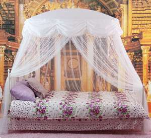 Mosquito Net Bed Canopy White Princess bedding fits twin / Queen