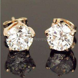 18K Rose Gold Gp Swarovski Crystal Plated Beautiful Cute Earrings