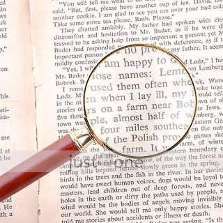 Optical Magnifying Glass 6X Loupe Metal Magnifier 52mm