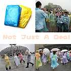 Plastic Tourist Raincoat for Travel tour Camping Hiking Outdoors