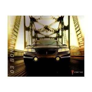2003 PONIAC BONNEVILLE Sales Brochure Lieraure Book