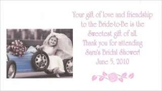 25 Kim Anderson Bridal Shower Wedding Favor gift TAGS