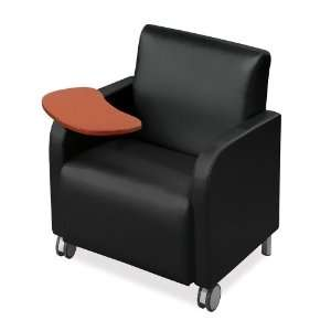 Lesro Vinyl Club Chair with Tablet Arm