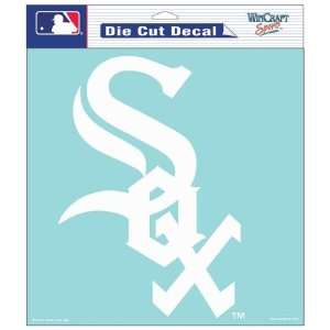 Chicago White Sox 8X8 White Die Cut Window Decal/Film