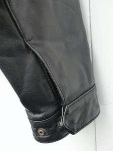 DIESEL INDUSTRIES Black Leather Motorcycle Bomber Jacket LARGE