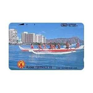 Collectible Phone Card 3u Aloha Festivals 93   Canoe (Telephone
