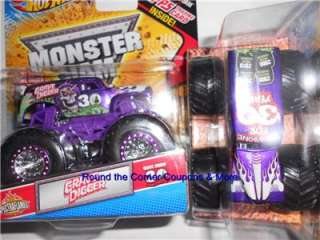 2012 HW Monster Jam Grave Digger 30th Spectraflames PURPLE Trading