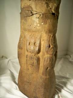 Wooden Hand Carved African Horns Standing 8feet tall